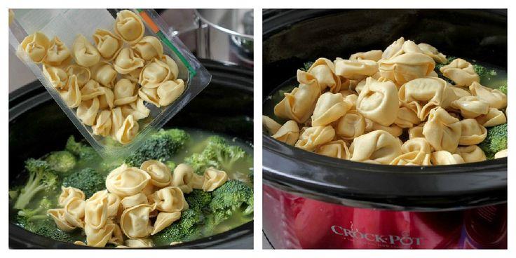 Slow Cooker Creamy Chipotle Chicken Tortellini | Tortellini, Chipotle ...