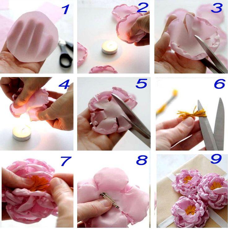 Cum sa faci floricele din material textil