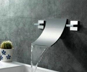 Mounted Luxury Waterfall Wall Bath& Basin Sik Mixer Tap Chrome Faucet lw831u