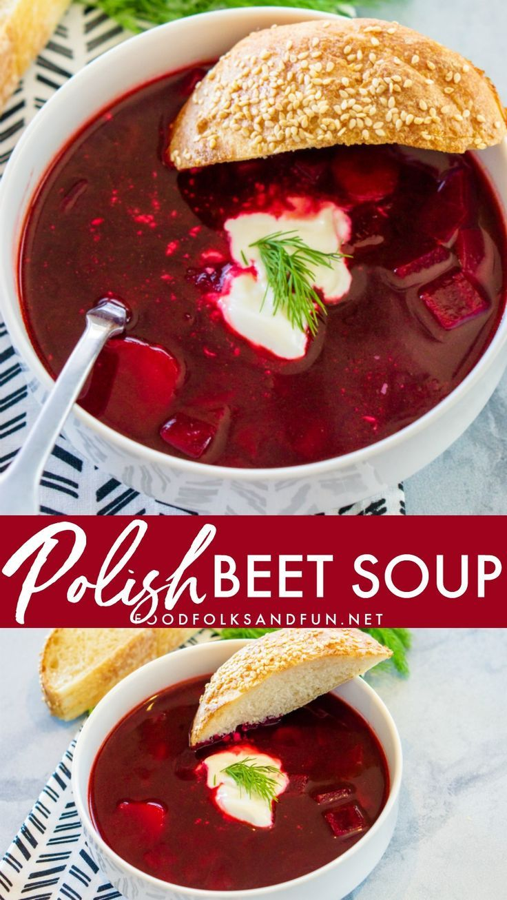 Polish Beet Soup, Barszcz or Borscht, is an easy and delicious vegetable-packed …