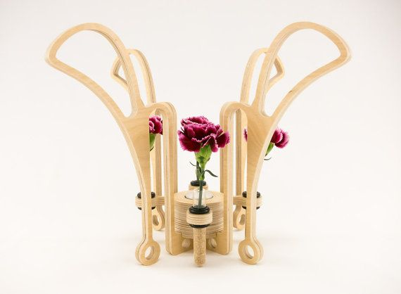 Style 39  Contemporary Wood Sculpture Vase by KkornerInnovations, $34.00