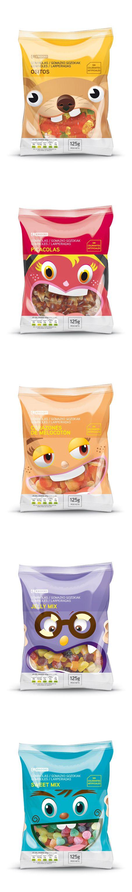 EROSKI snacks for the packaging smile file : )