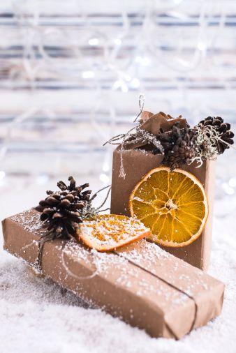 orange and pinecone
