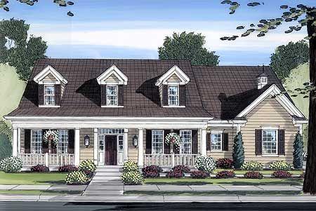Plan W39118ST: Cape Cod, Corner Lot, Country House Plans & Home Designs