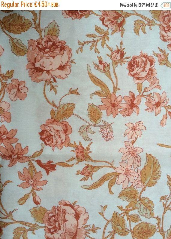 Tessuto floreale raso di cotone  design scandinavo  di AnFabric