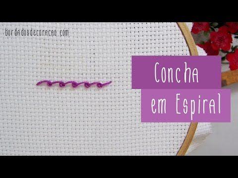 Ponto Concha em Espiral - YouTube legal!!!