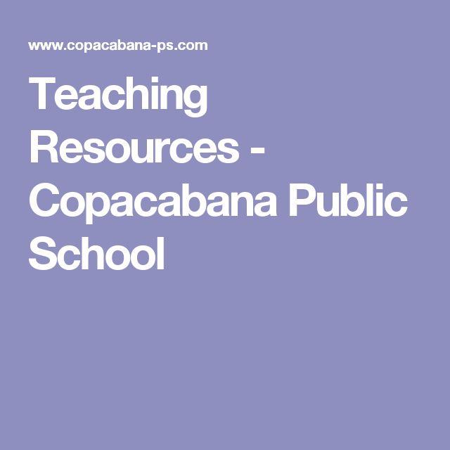 Teaching Resources - Copacabana Public School