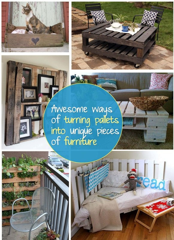 turning pallets into unique pieces of furniture !