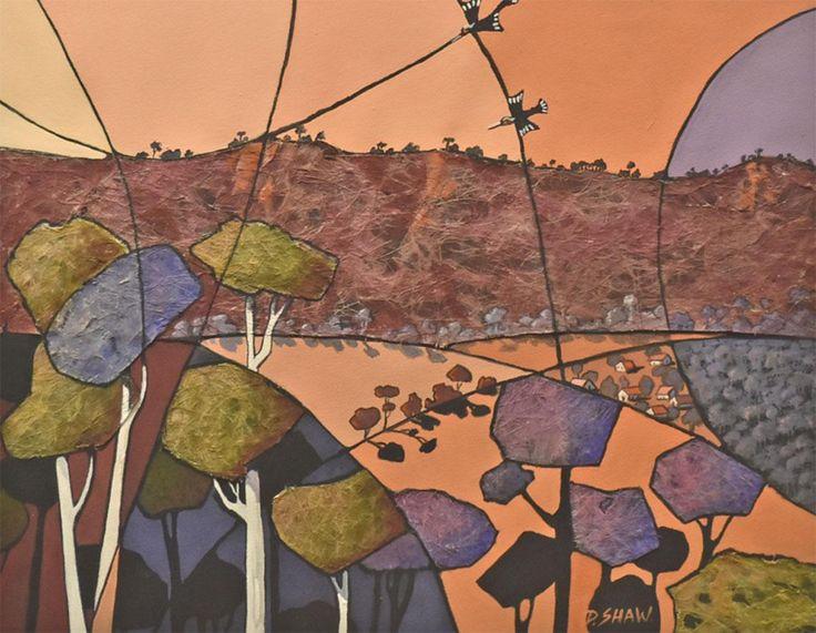 Artist: Doreen Shaw - Title: Sunset On The Ranges ( H 60 cm X W 50 cm)
