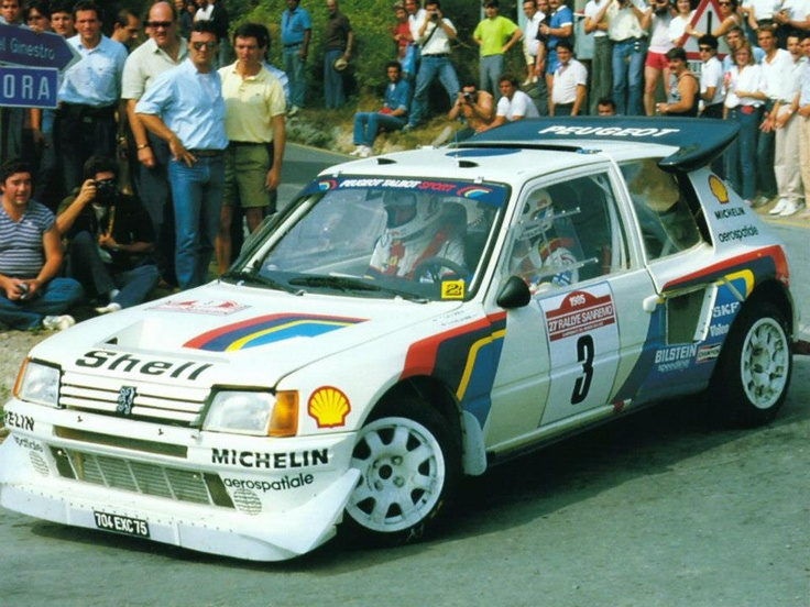 Peugeot 205 T16 / T16 E2 Group B. Look at those wings.
