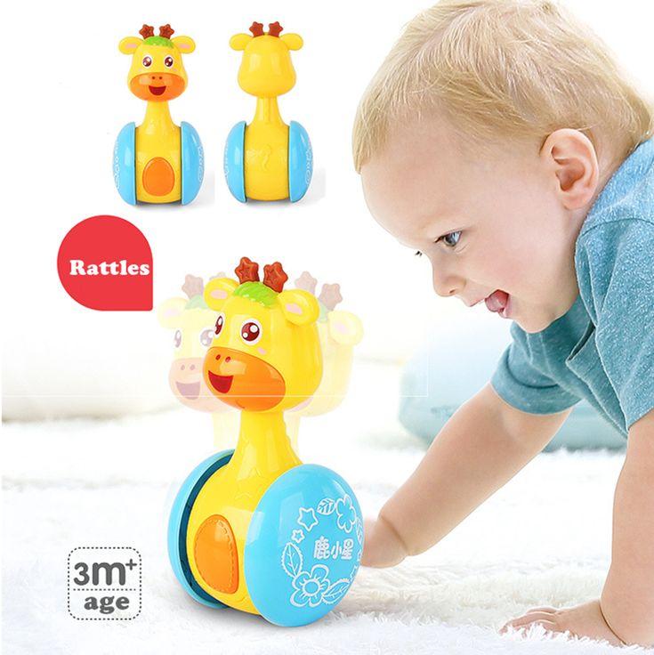 Crepitii del bambino Tumbler Giocattoli Baby Doll Dolce Campana Musica Roly-poly Learning Education Giocattoli Regali per Bambini Giocattoli Del Bambino della Campana