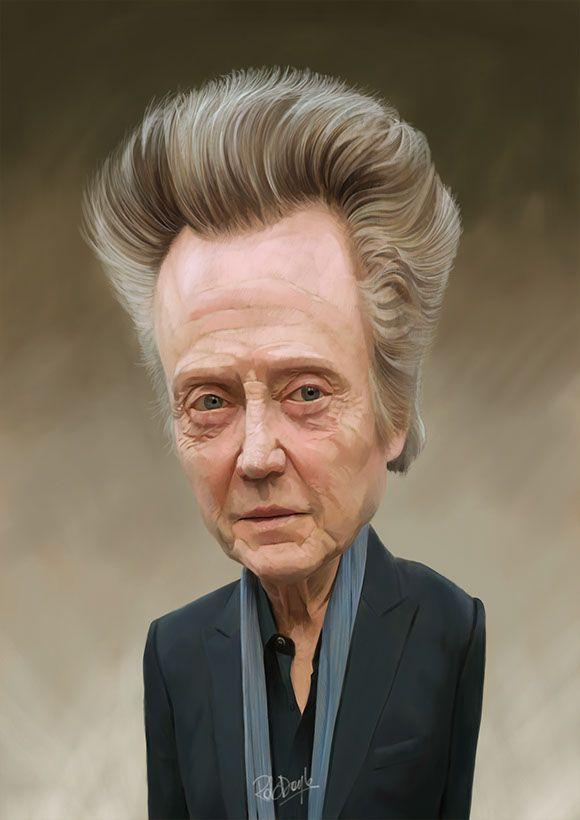 Christopher Walken Caricature illustration