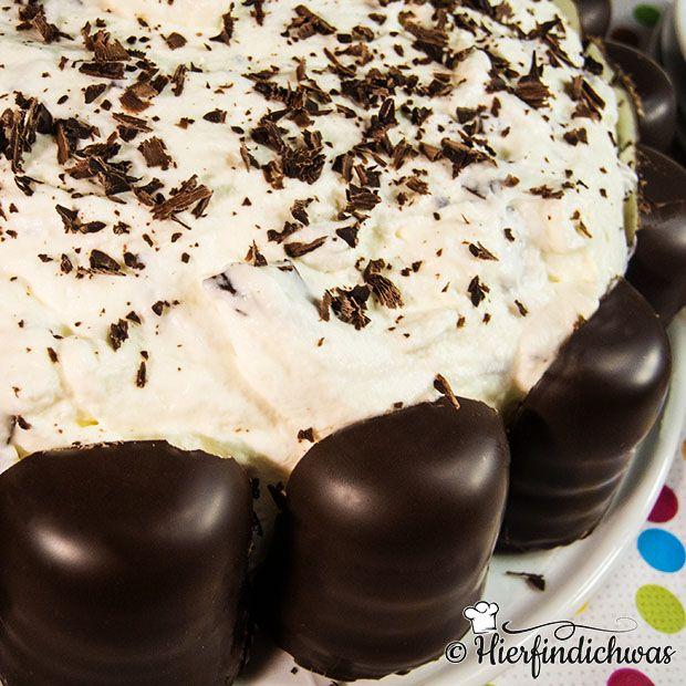 Schokokuss-Torte mit Biskuitteigboden, Kindergeburtstag