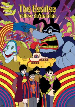 The Yellow Submarine (1968)..The film's style, created by creative director Heinz Edelmann and not Peter Max contrasts greatly with the efforts of Disney and other animated films from Hollywood up until the time. The film uses a type of limited animation. It also paved the way for Terry Gilliam's animations for Monty Python (note particularly the cut-out animation made of colorised b/w photographs for the Eleanor Rigby sequence which bears a great resemblance to Gilliam's animations).