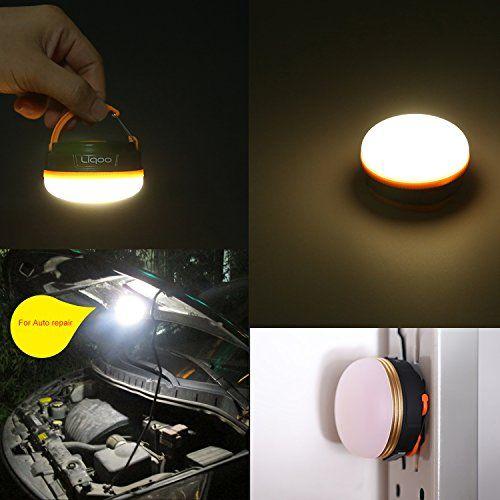 Esta lámpara de camping es ideal para camping, corte de energía, pesca, reparación de automóviles de emergencia.  El tornillo del compartimiento de pilas está equipado con un imán fuerte, para que la lámpara se puede unir a los objetos de metal. ... http://comprarlinternaled.com/camping/liqoo-recargable-led-mini-linterna-de-camping-magnetica-farol-linterna-de-emergencia-lampara-colgante-perfecto-para-reparar-coches-camping-send