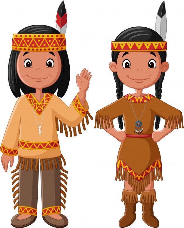Couple De Dessin Anime Natif Indien Americain American Indian Girl Native American Indians Girl Cartoon
