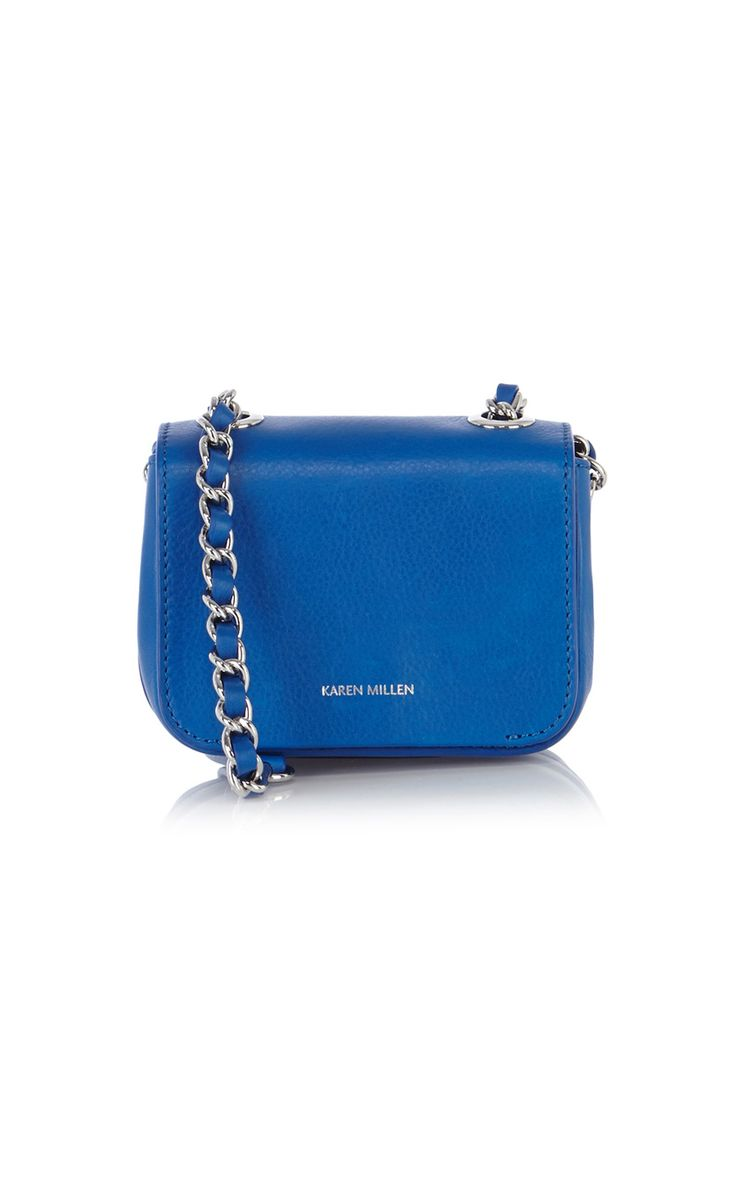 Mini Leather Bag With Chain Handle | Luxury Women's clutches | Karen Millen
