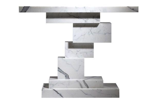 """Vан der Straeten.  Дизайнер Эрве ван дер Стратен. Консоль """"Казимир"""", мрамор, ограниченная серия из 20 штук, 2010."""