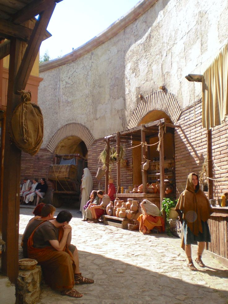 Fabulous Roman set for CBBC series 2 of The Roman Mysteries at Boyana Studios, Bulgaria. Photo by Roman Mysteries author Caroline Lawrence, Sept 2007.