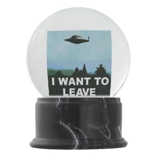 I want to Be-leave funny variation on famous movie Snow Globes