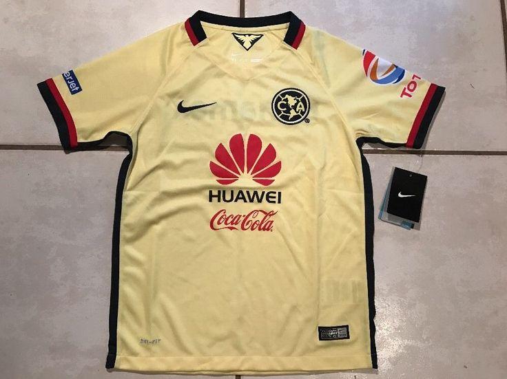 NWT  NIKE Club America Mexico 2015 Soccer Jersey Boys Medium  | eBay