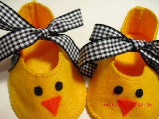 Awww. Little chicken shoes <3