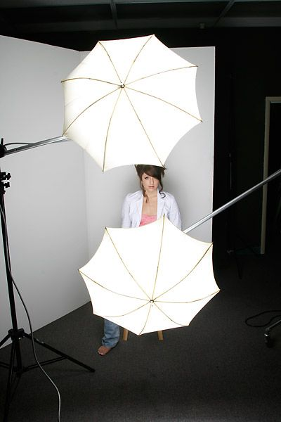 Briana in the light of two umbrellas for a clamshell approach. & 126 best # Boudoir Lighting Setups images on Pinterest | Female ... azcodes.com