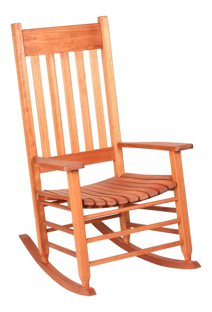 Hinkle Chair Company Cinnamon Finish Grandis 850 Style Rocking Chair, Red. Constructed of Red Grandis tropical hardwood. Oversized Slat Seat. Sturdy arm rests. Sikkens Translucent Wood Treatment. Easy Assembly.