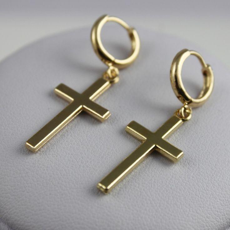 New Fashion Women Jewelry Drop Earrings Cross Shape Vintage Silver Gold Color For Women