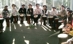 Team Building Drumming in Indonesia.