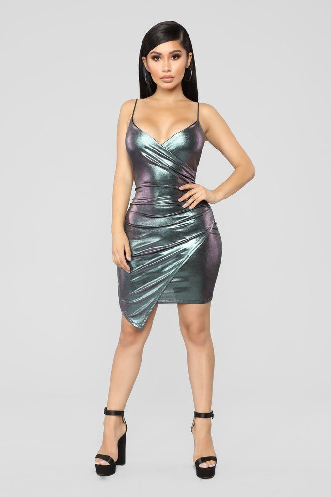 8d54f026f0e8d Midnight Hour Metallic Dress - Silver in 2019 | Dresses | Dresses ...