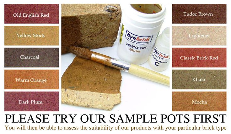Website that specializes in brick dyes. Hoping to change the orangey-red brick on the house we're buying into a nice warm brown!