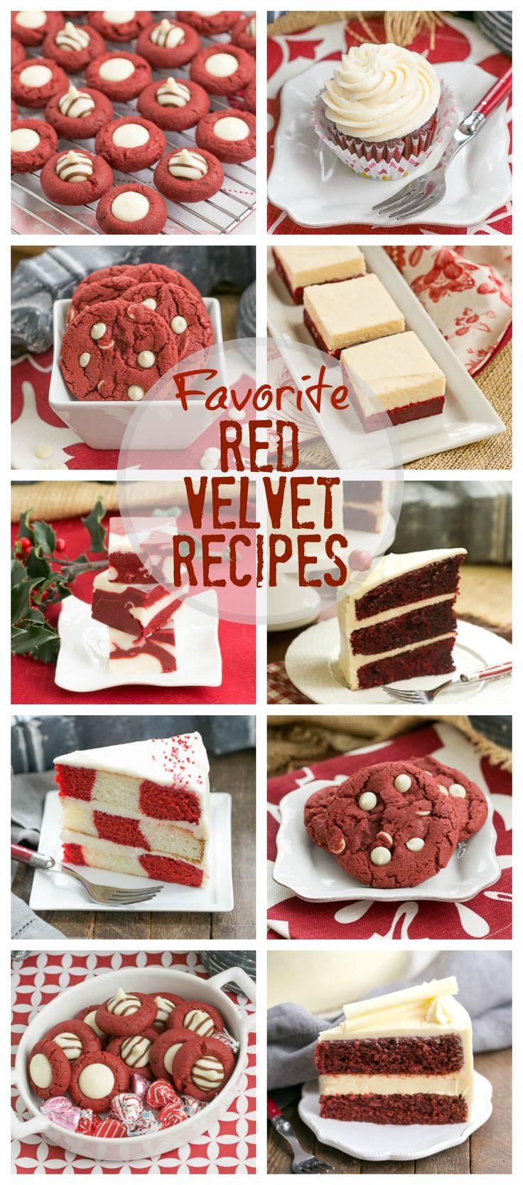 Favorite Red Velvet Recipes   Perfect for Valentine's Day, Christmas or anytime you're craving red velvet! @lizzydo