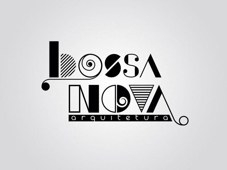 Logotipo Bossa Nova Arquitetura. Criação: Rafael Okubara.