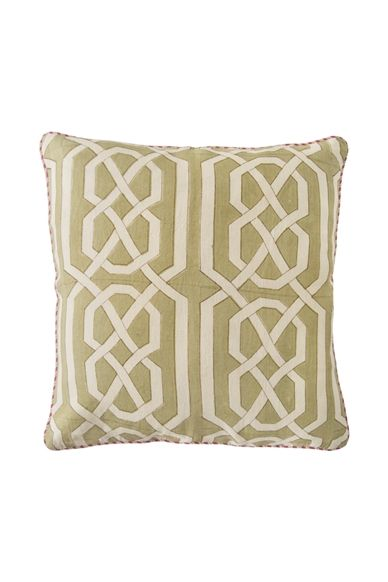 Goodearth - Nishaat Bagh :Sikri Jaali Linen Cushion