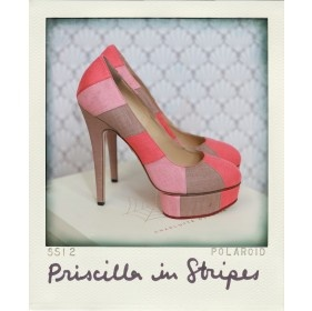 My new fave shoe designer - I will take these all day long!!!  Charlotte Olympia - Priscilla In Stripes