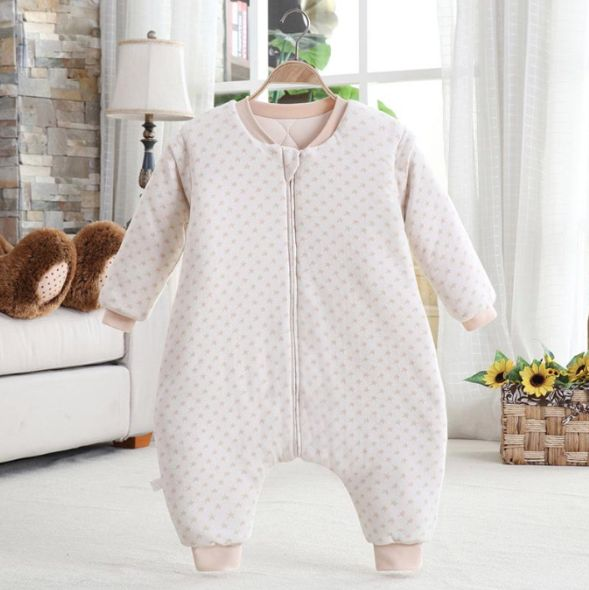 Natural Thick Blanket Sleeper Removable Sleeves