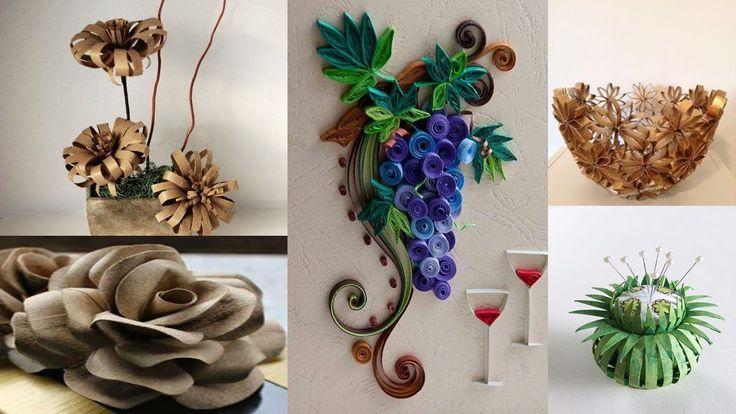622 best cesteria y tejido con fibras papel ect images on - Decoracion con rollos de papel higienico ...