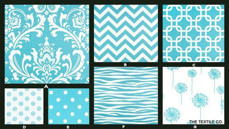 Custom Twin/Full Size Reversible Contemporary Duvet Cover in Aqua Girly Blue. $200.00, via Etsy.
