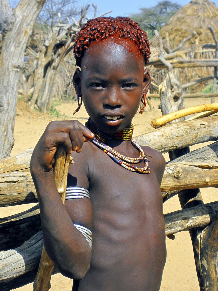 Young Hamar woman - Ethiopia | The Hamar tribe is a tribe