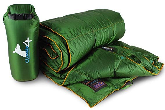 650 Fill Power Horizon Hound Down Camping Blanket Outdoor Lightweight Packable Down Blanket Compact Waterproof and Warm for Camping Hiking Travel