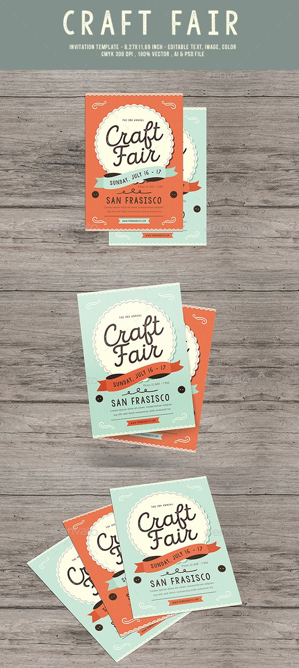Craft Fair Event Flyer - #Flyers Print Templates Download here: https://graphicriver.net/item/craft-fair-event-flyer/20123502?ref=alena994