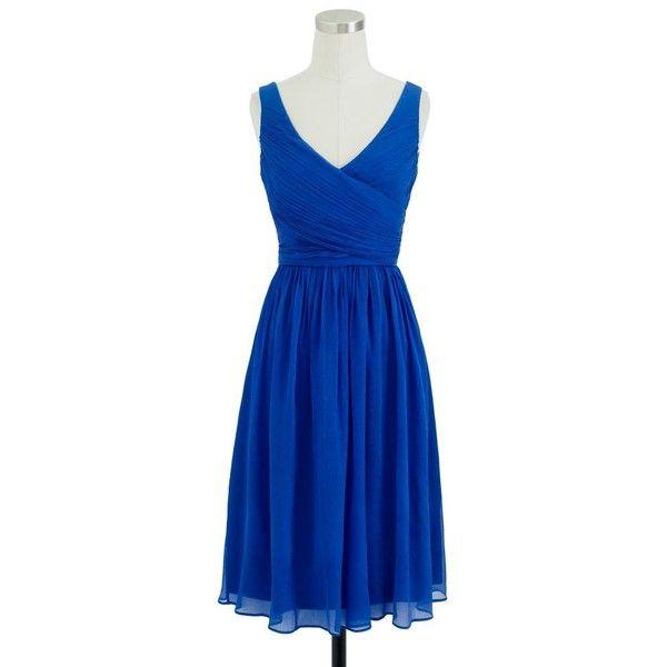 Petite Heidi Dress In Silk Chiffon ($180) ❤ liked on Polyvore