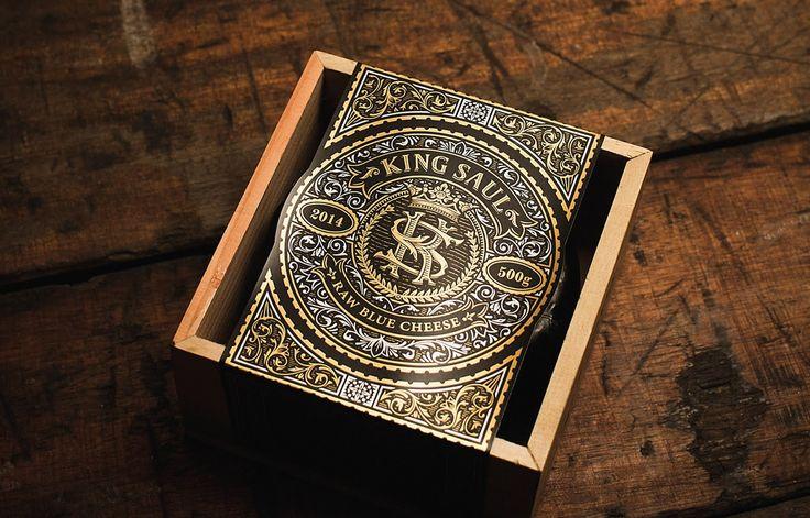 King Saul #cheese #packaging #design by Frank Aloi Design Co - http://www.packagingoftheworld.com/2017/10/king-saul.html