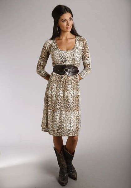 Pretty Dress With Cowboy Boots Oh Yeah My Style