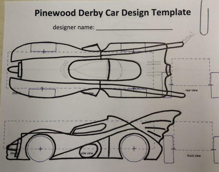 Pinewood Derby Car Templates Batman Printable