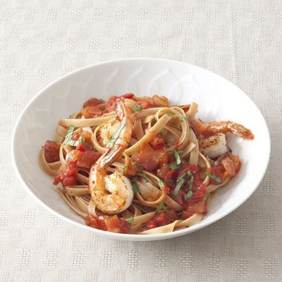 Heart-Healthy Recipes for 2013—Tomato and Shrimp Stew. This dish is full of monounsaturated fats and lean protein—the perfect recipe for a heart-healthy diet.
