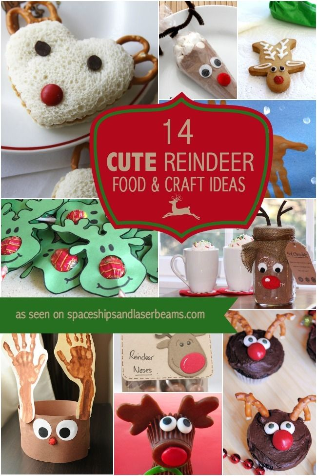 14 Cute Reindeer Craft and Food Ideas Kids will Love