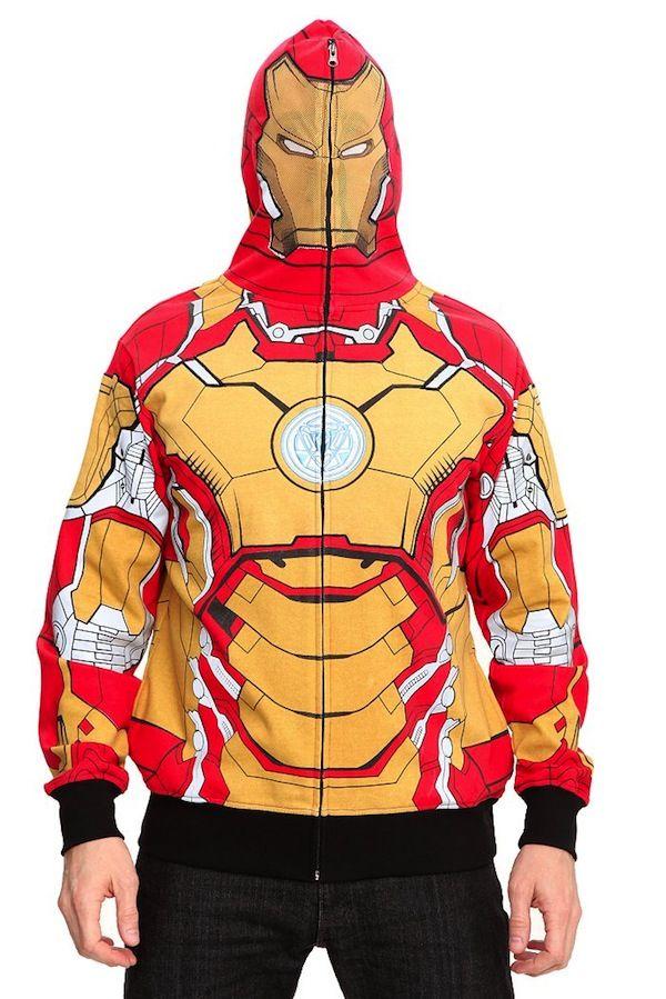 """Three New """"Iron Man 3″ Full Zip Hoodies"""
