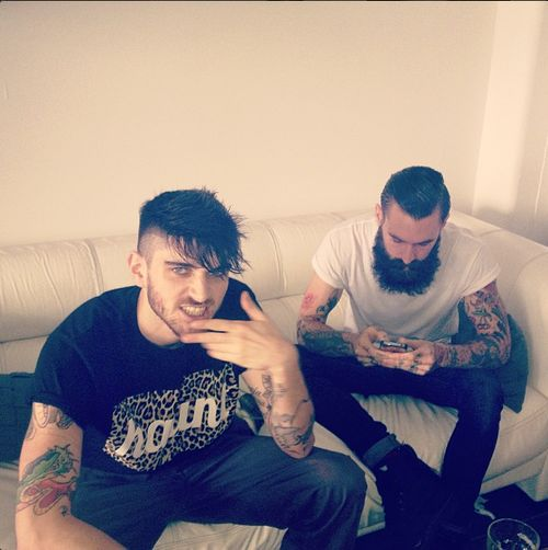 Ricki Hall and Pedro Rebelo in the haunt tshirt www.hauntapparel.com/store